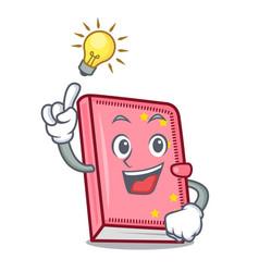 Have an idea diary mascot cartoon style vector