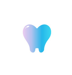 heart with tooth root flat cartoon style vector image