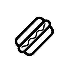 hot dog icon food vector image
