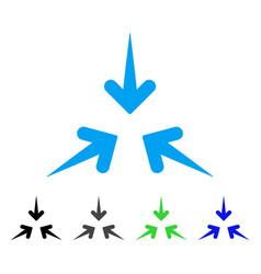 Impact arrows flat icon vector