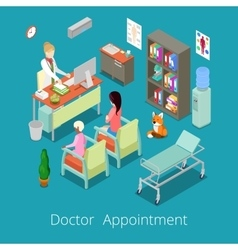 Isometric Medical Cabinet Doctor Appointment vector image