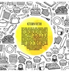 Kitchen utensils and appliance banner vector