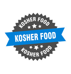 Kosher food sign kosher food circular band label vector