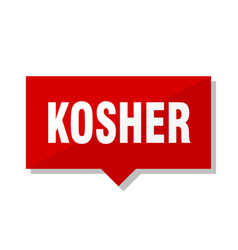 Kosher red tag vector