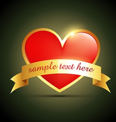 label heart design vector image