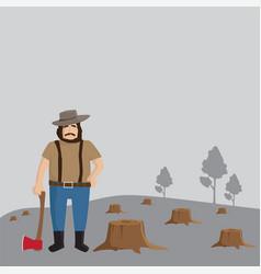 Logger man vector