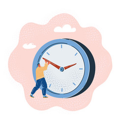 Man trying to stop time vector