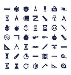 Measure icons vector