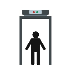 Metal detector icon vector