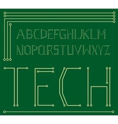 Motherboard alphabet vector