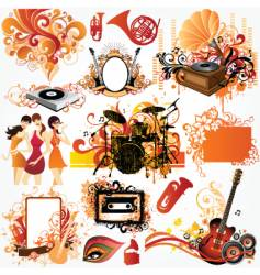 music design element set vector image