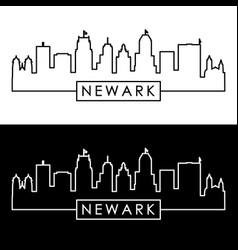 newark city skyline linear style editable file vector image