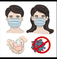 People in mask ncov coronavirus health earth human vector