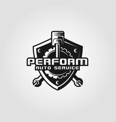 performance - auto service logo template vector image
