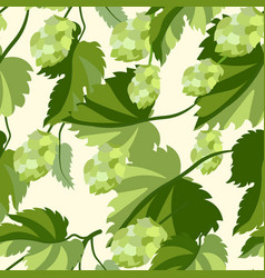 plant hop seamless background in minimalist vector image