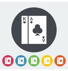 Play card icon vector