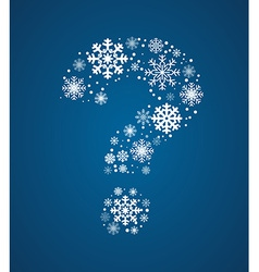 Question mark font frosty snowflakes vector