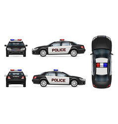 Realistic police car mockup vector