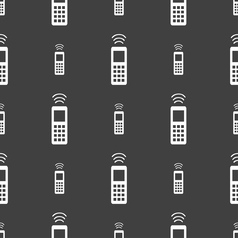remote control icon sign Seamless pattern on a vector image