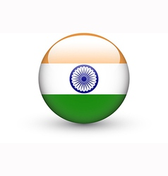 Round icon with national flag of India vector