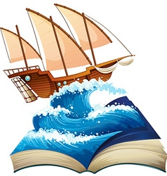 Sailboat in the ocean vector