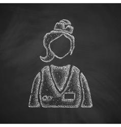 saleswoman icon vector image