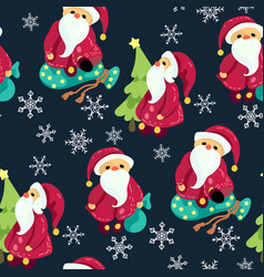 Seamless christmas pattern in graphic with cute vector