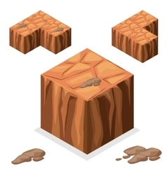 Seamless game block isometric landscape cube vector