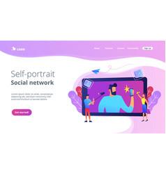 selfie concept vector image