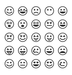 Set of black smileys vector image