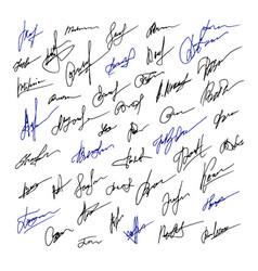 Signature set business hand drawn vector