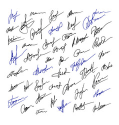 Signature set of business hand drawn vector