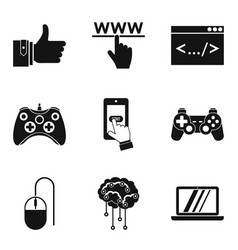 Skilled specialist icons set simple style vector