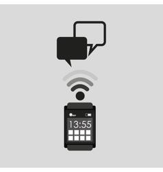 Smart watch social media bubble speech vector