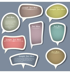 Speech bubbles with calligraphic elements vector