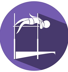 Sport icon design for high jump vector image