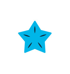 Starfruit icon colored symbol premium quality vector