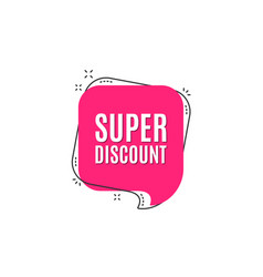 super discount symbol sale sign vector image