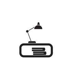 table lamp black concept icon table lamp vector image