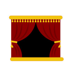 Theater stage curtains vector