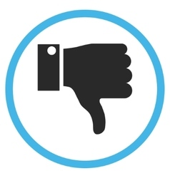 Thumb Down Flat Rounded Icon vector image