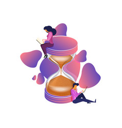 time management flat isometric vector image