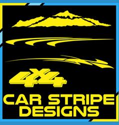 Tribal and cool car stripe design set adhesive vector