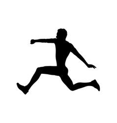 Triple jump man athlete vector