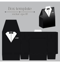 Tuxado box template Black color vector