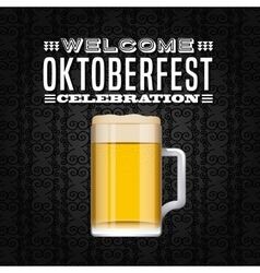 Welcome oktoberfest poster icon vector