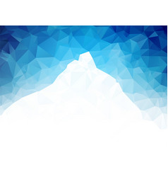 White mountain on blue geometric background vector