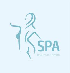 women fitness logo icon sports health spa yoga vector image
