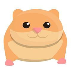 Zoo hamster icon cartoon style vector