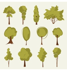 collection of trees vector image